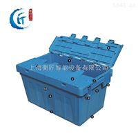烟草周转箱斜插烟草配送箱带盖塑料物流箱上海大号烟草医药配送箱
